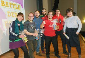Sieg! Moritz Kirchner gewinnt den Adlershofer Science Slam