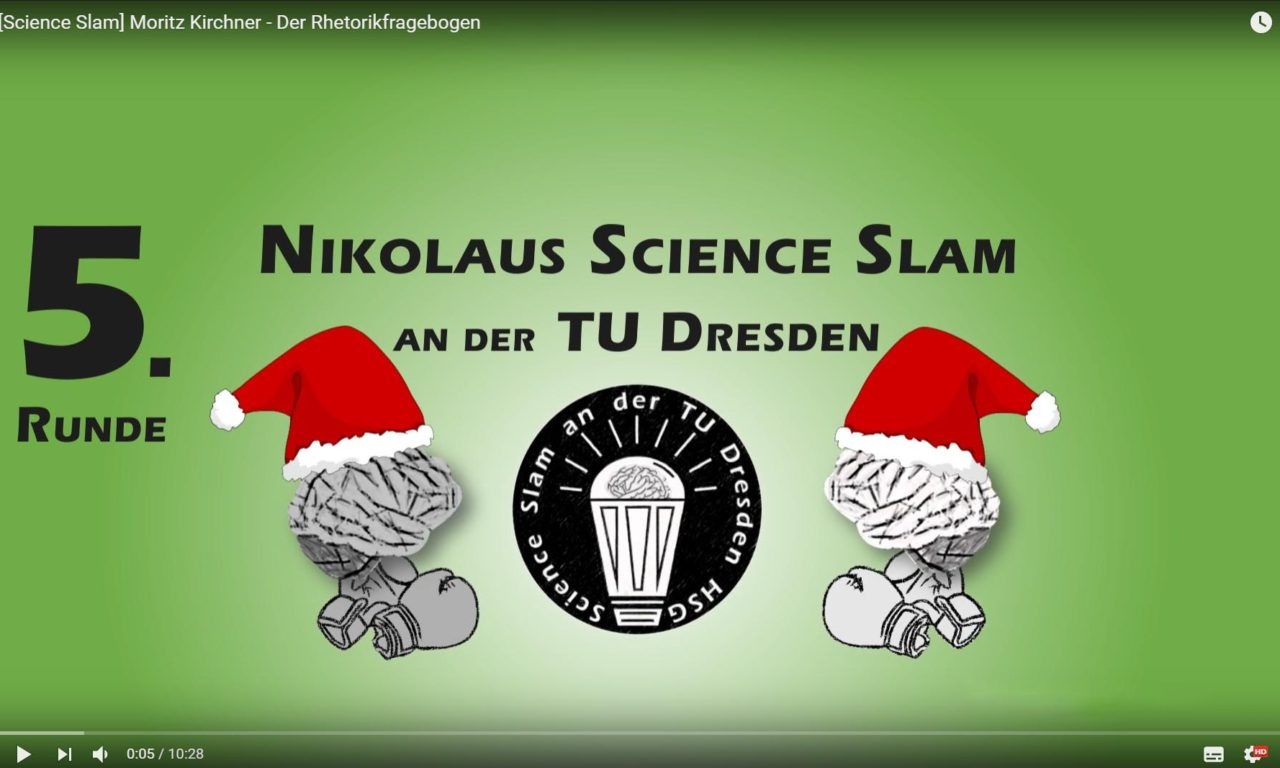 Science Slam – Der Rhetorikfragebogen