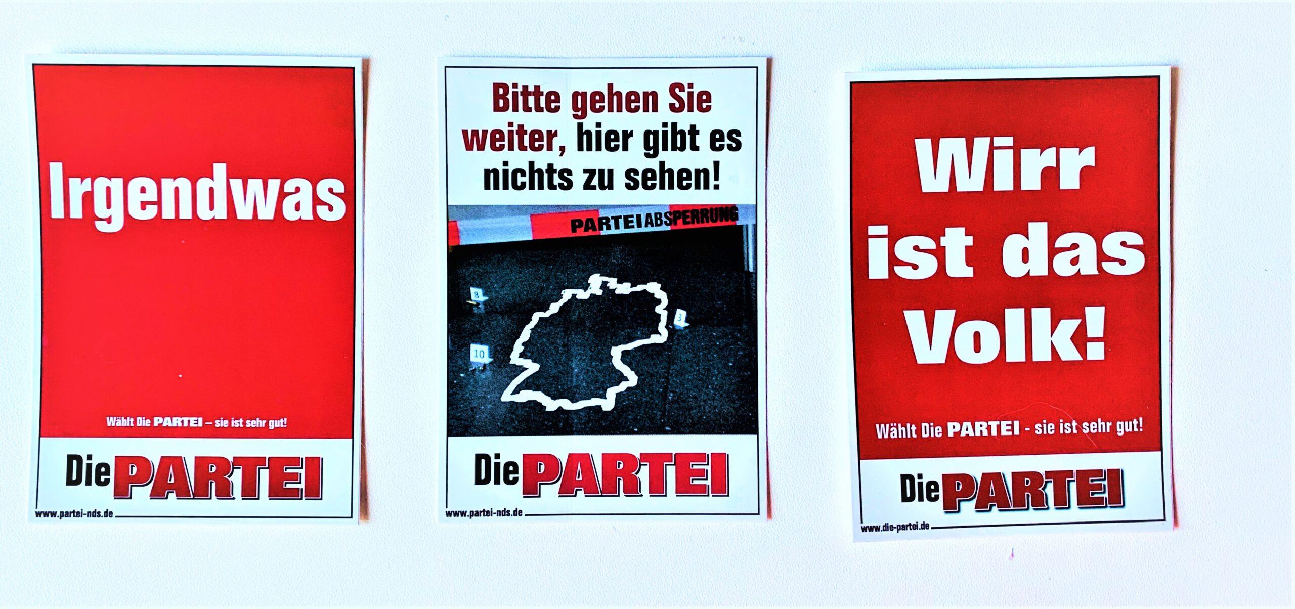Read more about the article Die PARTEI ein Jahr vor der Bundestagswahl – Kurz vor dem Einzug?